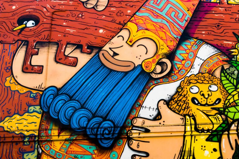 poes jober street art
