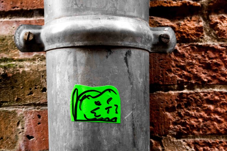 chat nicolas stickers street art toulouse