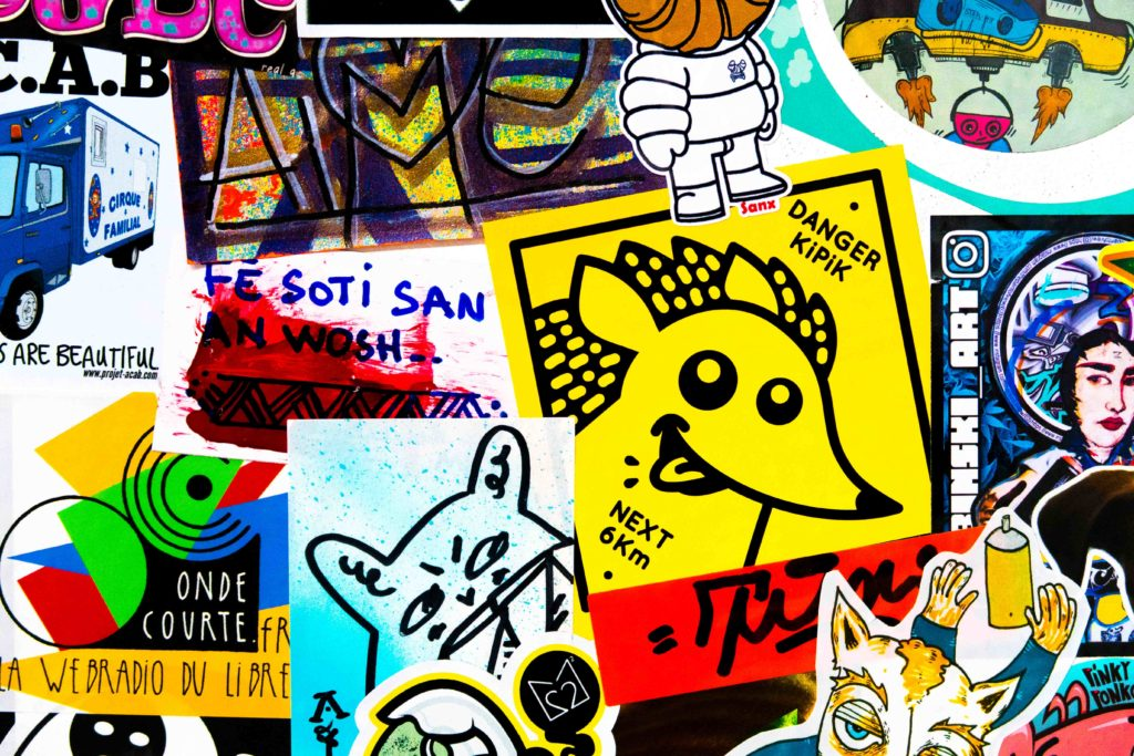 fist street art stickers toulouse